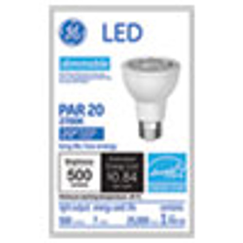 GE LED PAR20 Dimmable Warm White Flood Light Bulb  2700K  7 W (GEL93360)