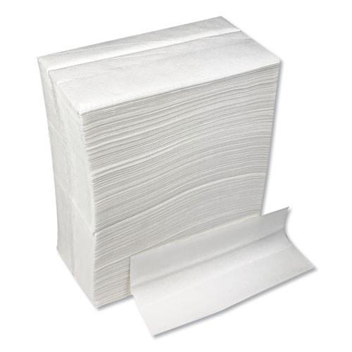 GEN Tall-Fold Napkins  1-Ply  7 x 13 1 4  White  10 000 Carton (GENTFOLDNAPKW)