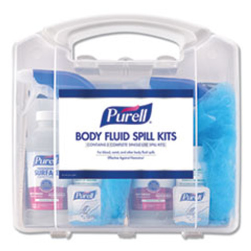 PURELL Body Fluid Spill Kit  4 5  x 11 88  x 11 5   One Clamshell Case with 2 Single Use Refills Carton (GOJ384101CLMS)