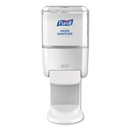 PURELL Push-Style Hand Sanitizer Dispenser  1200 mL  5 25  x 8 56  x 12 13   White (GOJ502001)