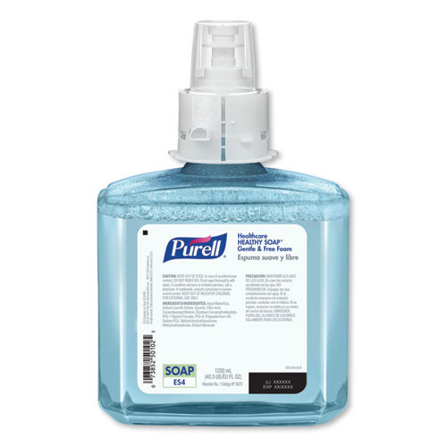PURELL Healthcare HEALTHY SOAP Gentle and Free Foam  1200 mL  For ES4 Dispensers  2 Carton (GOJ507202)