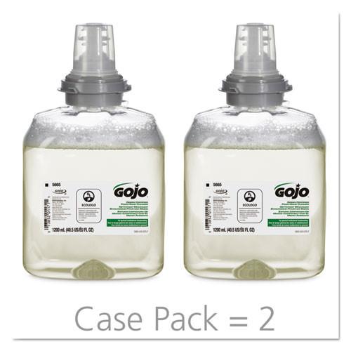 GOJO TFX Green Certified Foam Hand Cleaner Refill  Unscented  1200mL  2 Carton (GOJ566502CT)