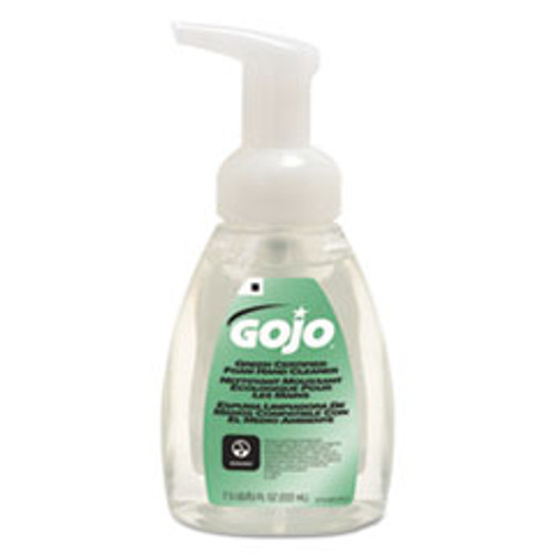 GOJO Green Certified Foam Soap  Fragrance-Free  Clear  7 5 oz Pump Bottle (GOJ571506CT)