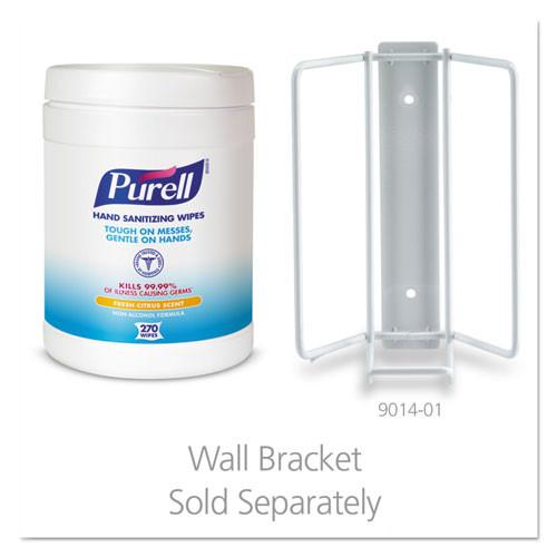 PURELL Sanitizing Hand Wipes  6 x 6 3 4  White  270 Wipes Canister (GOJ911306EA)