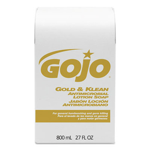 GOJO Gold and Klean Lotion Soap Bag-in-Box Dispenser Refill  Floral Balsam  800 mL (GOJ912712EA)