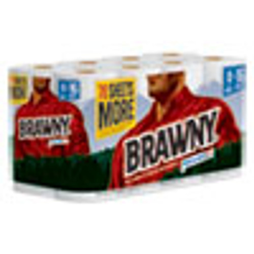Brawny Pick-A-Size Perforated Roll Towel  2-Ply  11  x 59 ft  White  120 Roll  8 Rolls Carton (GPC441945)