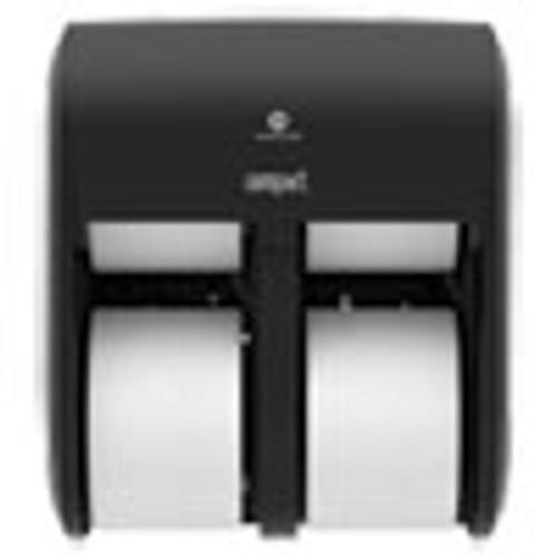 Georgia Pacific Professional Compact Quad Vertical 4-Roll Coreless Dispenser  11 75 x 6 9 x 13 25  Black (GPC56744A)