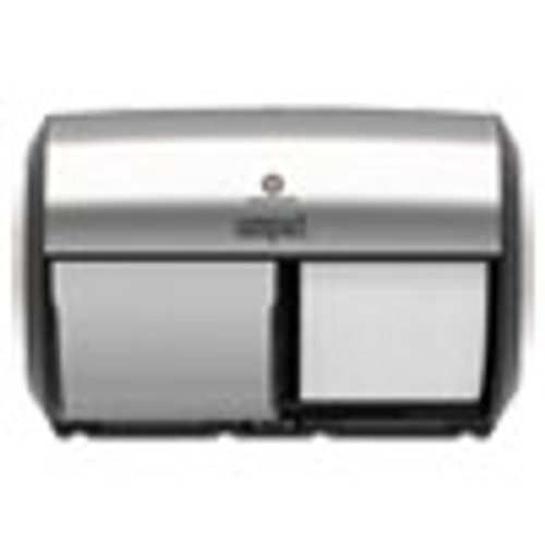 Georgia Pacific Professional Compact Coreless Side-by-Side 2-Roll Dispenser  11 x 7 4 x 7 4  Stainless Steel (GPC56796A)