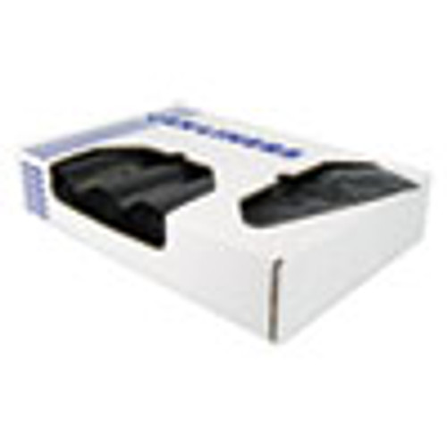 Heritage X-Liner Reprocessed Liners  60 gal  1 7 mil  38  x 58   Black  100 Carton (HERX7658WKR01)