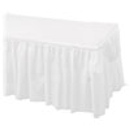 Hoffmaster Tableskirts  Plastic  White  29  x 14 ft  6 Carton (HFM110010)