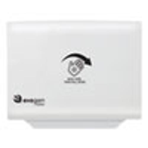 HOSPECO Evogen No Touch Toilet Seat Cover Dispenser  16 14  x 12  x 2   White (HOSEVNT1W)