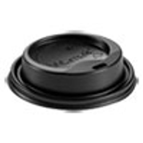 Huhtamaki Hot Cup Lids  Fits 8 oz Hot Cups  Dome Sipper  Black  1 000 Carton (HUH89435)