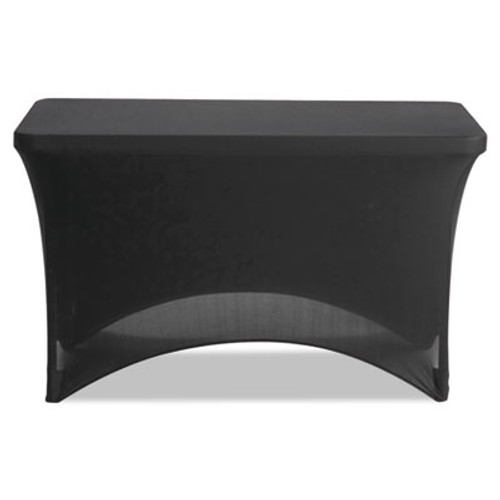 Iceberg Stretch-Fabric Table Cover  Polyester Spandex  24  x 48   Black (ICE16511)