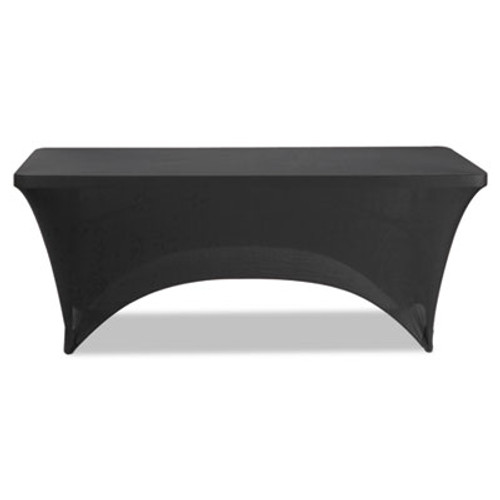 Iceberg Stretch-Fabric Table Cover  Polyester Spandex  30  x 72   Black (ICE16521)