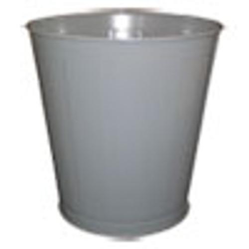 Impact Round Metal Wastebasket  Round  Steel  28 qt  Gray (IMP13023)