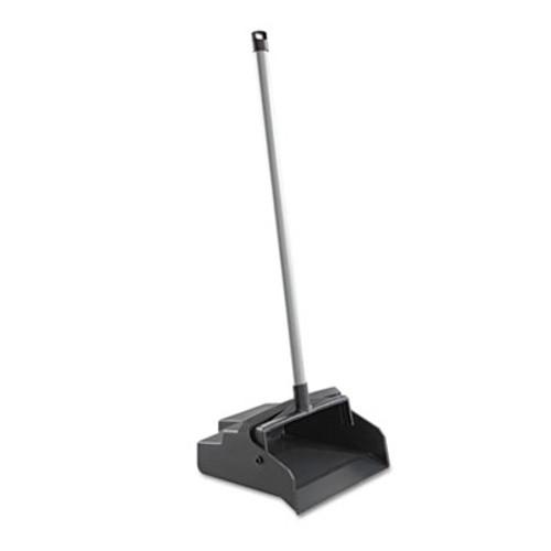Impact LobbyMaster Plastic Dust Pan  12w x 37h  Black Pan White Handle (IMP2600)