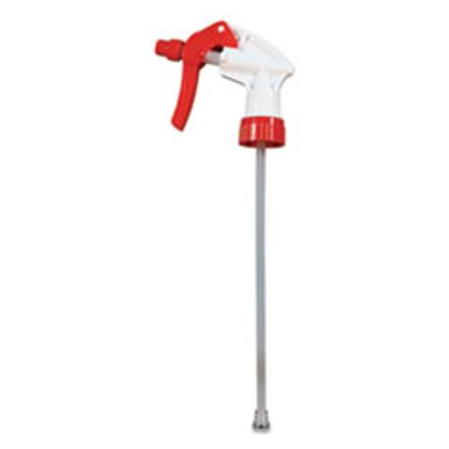 Impact General Purpose Trigger Sprayer  9 88  Tube  Fits 32 oz Bottles  Red White  24 Carton (IMP59062491)