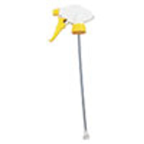 Impact Chemical Resistant Trigger Sprayers  9 88  Tube  Fits 32 oz Bottles  Yellow White  24 Carton (IMP60192491)