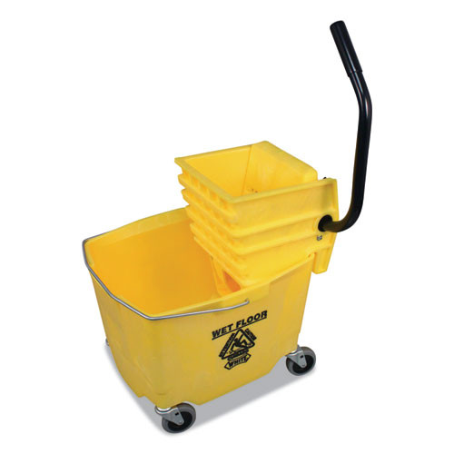 Impact Side-Press Squeeze Wringer Plastic Bucket Combo  12 to 32 oz  Yellow (IMP6Y26353Y)