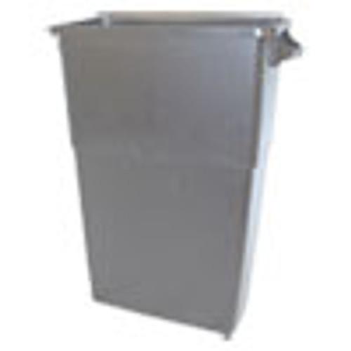 Impact Thin Bin Containers  Rectangular  Polyethylene  23 gal  Gray (IMP70233)