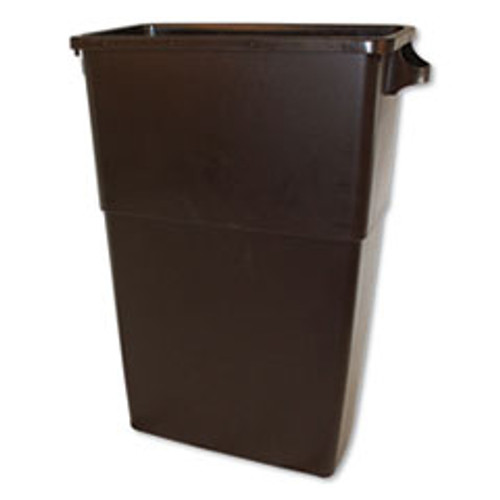 Impact Thin Bin Containers  Rectangular  Polyethylene  23 gal  Brown (IMP70234)