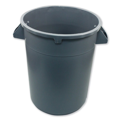 Impact Advanced Gator Waste Container  Round  Plastic  32 gal  Gray (IMP7732GRE)