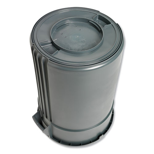Impact Advanced Gator Waste Container  Round  Plastic  44 gal  Gray (IMP77443)