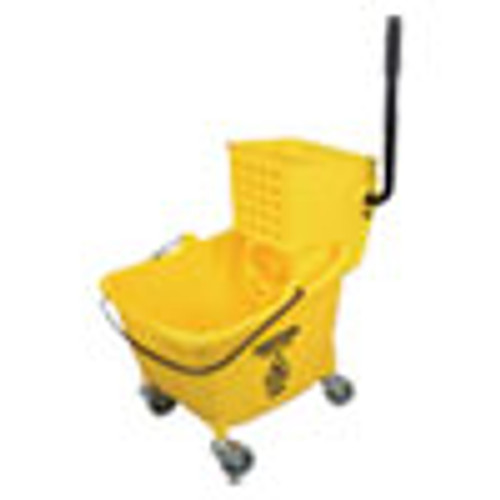 Impact Side-Press Wringer and Plastic Bucket Combo  12 to 32 oz  Yellow (IMP7Y26363Y)