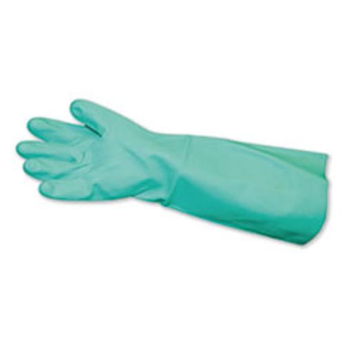 Impact Long-Sleeve Unlined Nitrile Gloves  Powder-Free  Green  Medium  12 Pair Carton (IMP8225M)