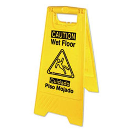 Impact Bilingual Yellow Wet Floor Sign  12 05 x 1 55 x 24 3  Yellow (IMP9152W)