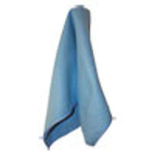 Impact Lightweight Microfiber Cloths  16 x 16  Blue  12 Pack  18 Packs Carton (IMPLFK100)