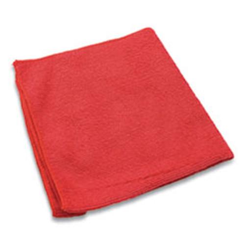 Impact Lightweight Microfiber Cloths  16 x 16  Red  240 Carton (IMPLFK451)