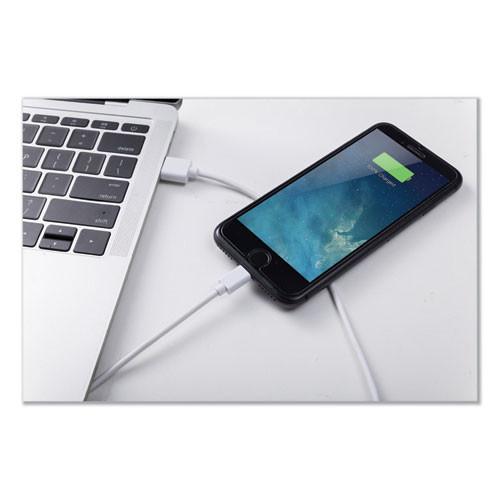Innovera USB Lightning Cable  3 ft  White (IVR30018)
