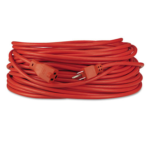 Innovera Indoor Outdoor Extension Cord  100ft  Orange (IVR72200)