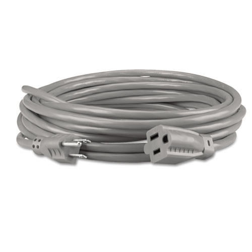 Innovera Indoor Heavy-Duty Extension Cord  15ft  Gray (IVR72215)