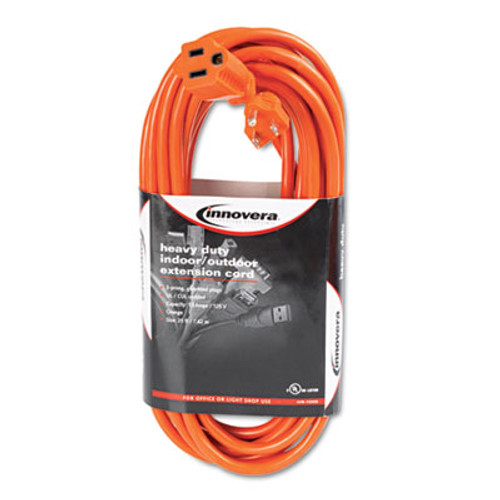 Innovera Indoor Outdoor Extension Cord  25ft  Orange (IVR72225)