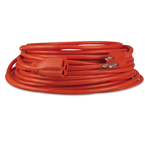 Innovera Indoor Outdoor Extension Cord  50ft  Orange (IVR72250)