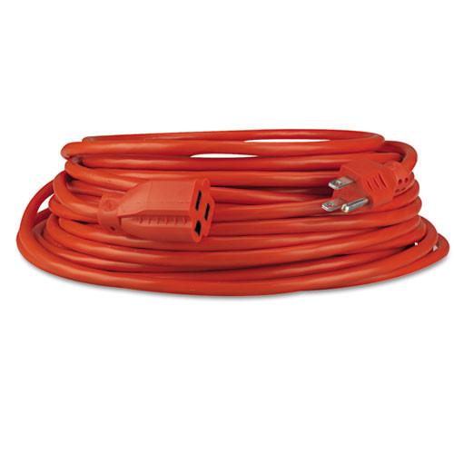 Innovera Indoor Outdoor Extension Cord  50ft  Orange (IVR72250)