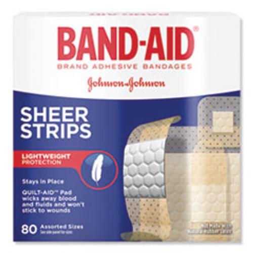 BAND-AID Tru-Stay Sheer Strips Adhesive Bandages  Assorted  80 Box (JOJ4669)
