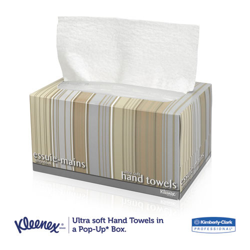 Kleenex Ultra Soft Hand Towels  POP-UP Box  White  70 Box  18 Boxes Carton (KCC11268CT)