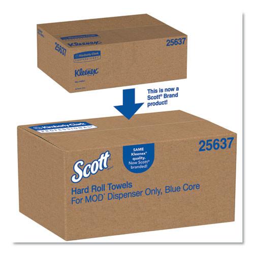 Scott Pro Plus Hard Roll Towels  Green Harvest  8  x 700 ft  White  6 Roll Carton (KCC25637)