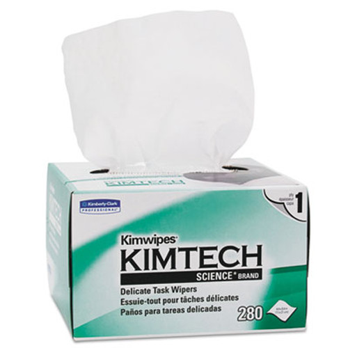 Kimtech Kimwipes  Delicate Task Wipers  1-Ply  4 2 5 x 8 2 5  280 Box (KCC34155)