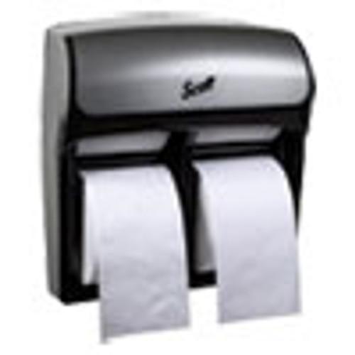 Scott Pro High Capacity Coreless SRB Tissue Dispenser 11 1 4 x 6 5 16 x 12 3 4 Faux SS (KCC44519)