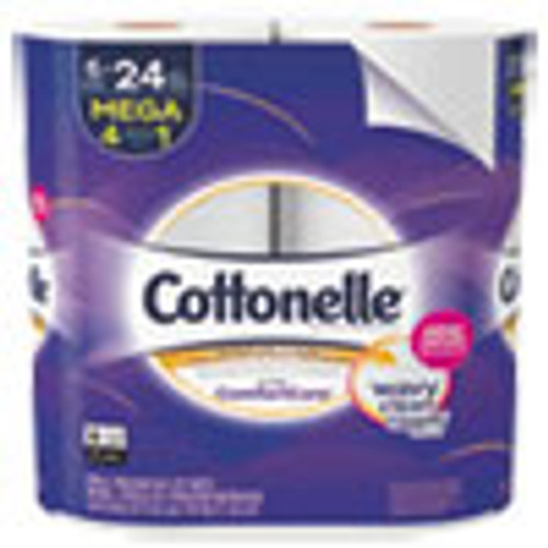 Cottonelle Ultra ComfortCare Toilet Paper  Septic Safe  2-Ply  284 Sheets Roll  6 Rolls Pack  36 Rolls Carton (KCC48611)