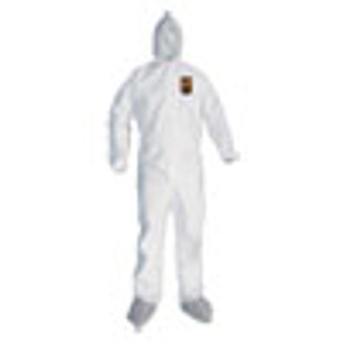 KleenGuard A45 Liquid Particle Protection Surface Prep Paint Coveralls  3XL  White  25 CT (KCC48976)