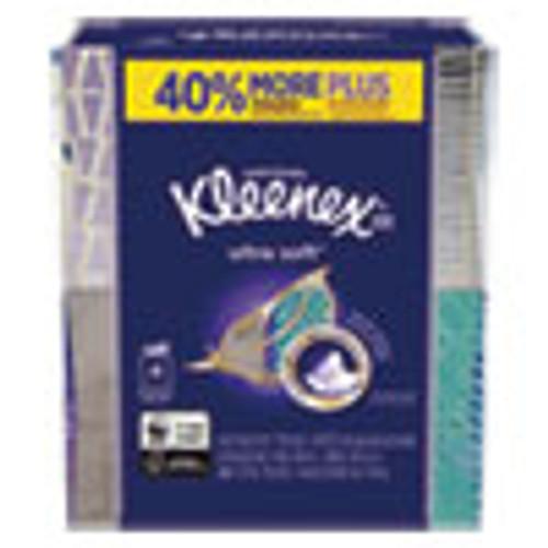 Kleenex Ultra Soft Facial Tissue  3-Ply  White  8 75 x 4 5  65 Sheets Box  4 Boxes Pack (KCC50173)