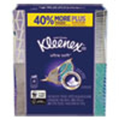 Kleenex Ultra Soft Facial Tissue  3-Ply  White  8 75 x 4 5  65 Sheets Box  4 Boxes Pack  12 Packs Carton (KCC50173CT)