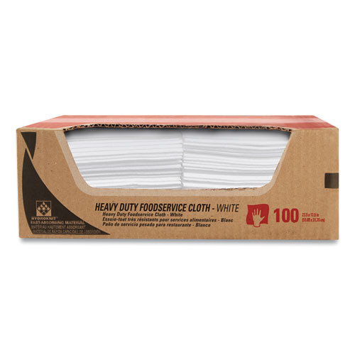 WypAll Heavy-Duty Foodservice Cloths  12 5 x 23 5  White  100 Carton (KCC51631)