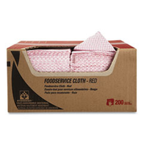 WypAll Foodservice Cloths  12 5 x 23 5  Red  200 Carton (KCC51639)