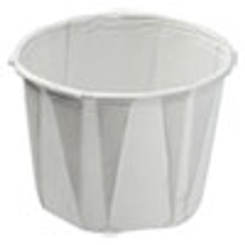 Konie Paper Souffle Portion Cups  0 75 oz  White  250 Sleeve  20 Sleeves Carton (KCI075KPC)